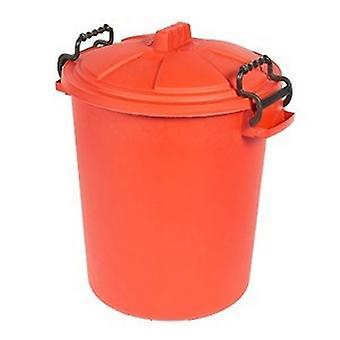 Saddlers Heavy Duty Dustbin And Lid With Clip