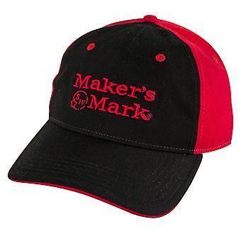 Maker ' s Mark rood en zwart logo mens hoed