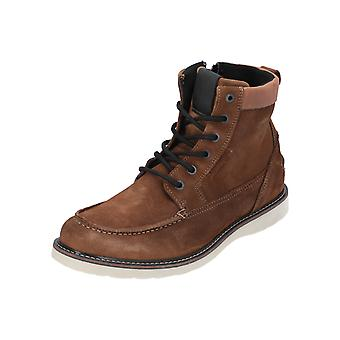 Björn Borg MILAN Z MID SUE M Men's Boots Lace-Up Leather Shoes Light Brown NEW Sale