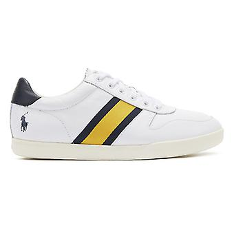 Ralph Lauren Camilo II Mens White / Navy Trainers