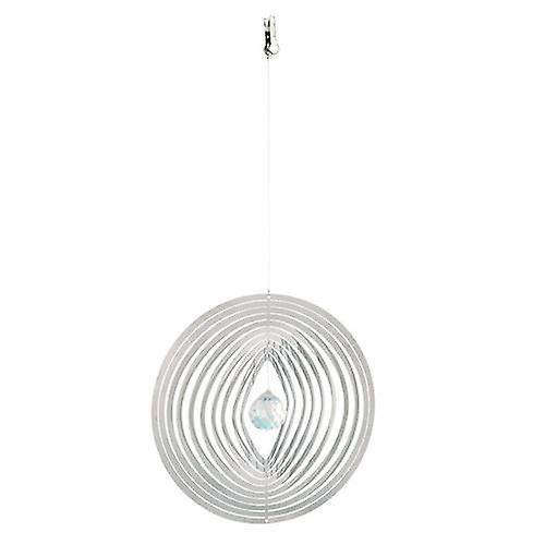 Silver 3D Wind Spinner Circle