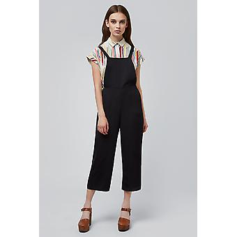 Joy Davis Pinafore Jumpsuit Black
