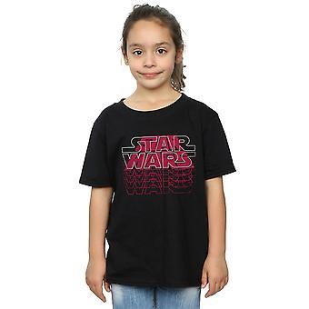 Star Wars Mädchen Blended Logos T-Shirt