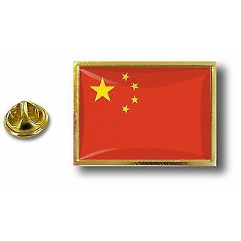 Pine PineS rinta nappi PIN-apos; s metalli Kiinan Kiina lippu perhonen hyppysellinen