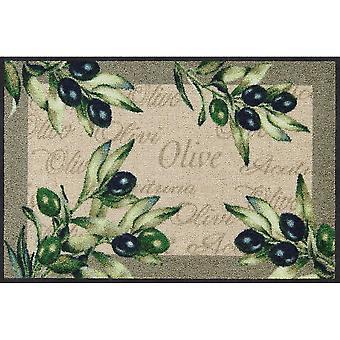 Salon Leeuw Olivo olijf mats wasbaar 50 x 75 cm