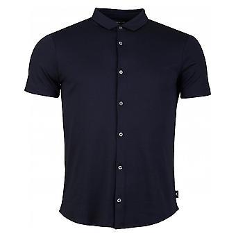 Armani Short Sleeved Slim Button Through Shirt