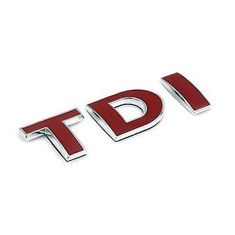 Red TDI Rear Fender Front Grill Bonnet Badge Emblem Boot Badge Emblem For Volkswagen, Audi, Skoda, Seat