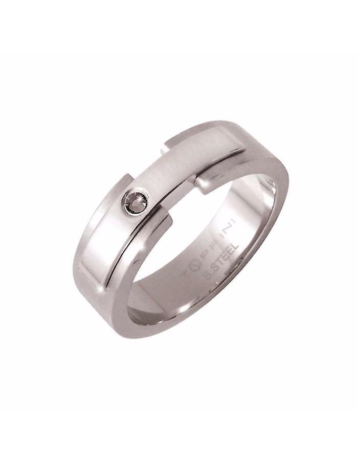 ZOPPINI Stainless Steel Black Diamond Ring Size 12
