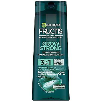 Garnier Grow Strong 3 In 1 Hair, Scalp & Beard Shampoo Fortifying Shampoo, 250 ml
