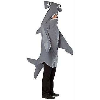 Hammerhead Shark Ocean Animal Big Fish Funny Adult Mens Costume OS