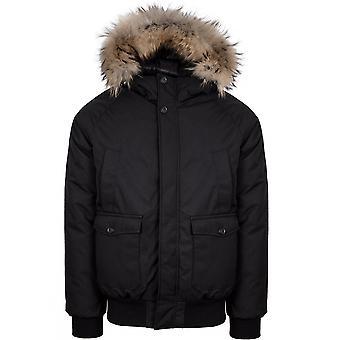 Pyrenex Pyrenex Black Mistral Fur Jacket