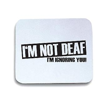 Tappetino mouse pad bianco trk0740 not deaf