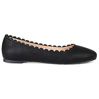 Brinley Co Comfort Womens Scalloped Flat