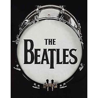The Beatles T Shirt World Original Drum Skin Band Logo new Official Mens