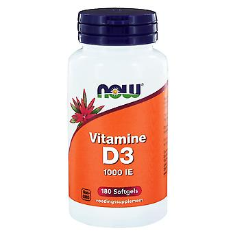Vitamine D3 1000 IE  (180 softgels) - NOW Foods