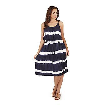 Pistachio Women's Tie Dye Strappy Knee Length Summer Dress