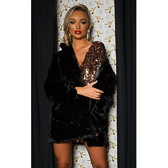 IKRUSH Womens Tilda Faux Fur Coat