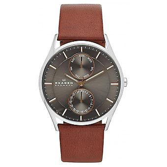 Skagen SKW6086 Watch - Silver Leather Watch and Men's