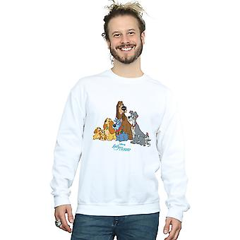 Disney Men's Lady And The Tramp Classic Group Sweatshirt