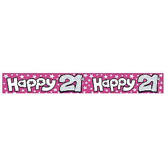 Expression Factory Womens/Ladies Happy 21st Birthday Foil Party Banner