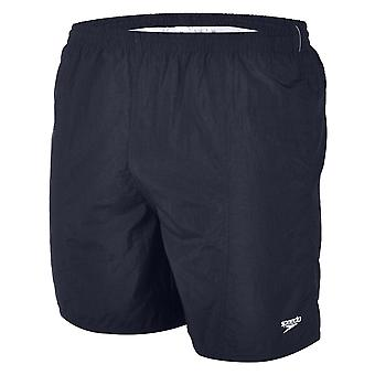 Speedo Boy's Solid Leisure 15 Inch Swim Shorts - Navy