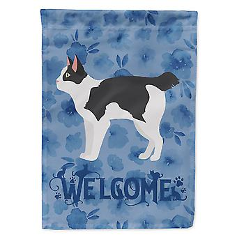 Japanese Bobtail Cat Welcome Flag Canvas House Size