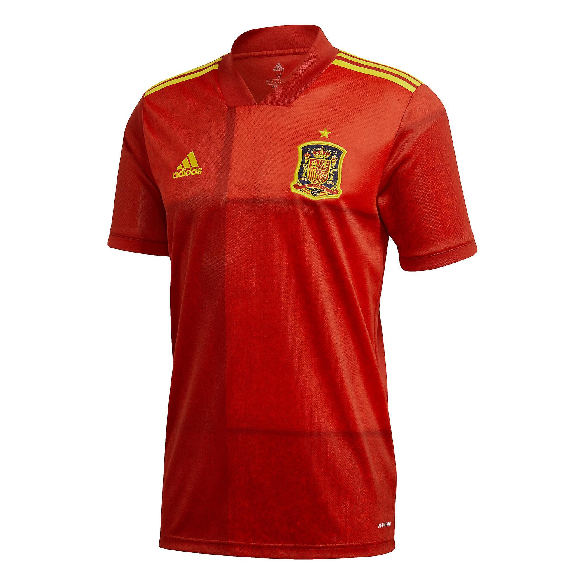 adidas Spain 2020/21 Mens Football Soccer Home Jersey Shirt Tee Red