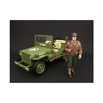 US Army WWII Figur I Für 1:18 Maßstab Modelle von Amerikanischen Diorama