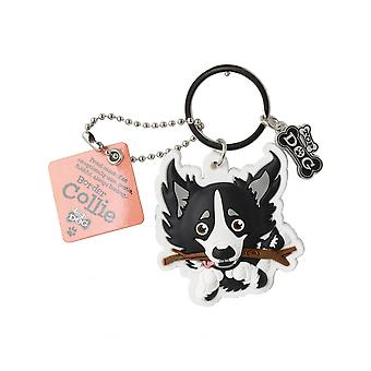 Wags & Whiskers Keyring - Border Collie