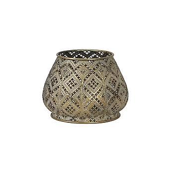 Light & Living Tealight 16.5x12.5cm - Mawar Antique Gold