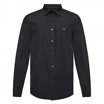ديزل S-بيل طويل الأكمام قميص عادي أسود