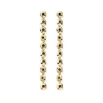 ChloBo Gold & Iolite Graceful Aura Drop Earrings