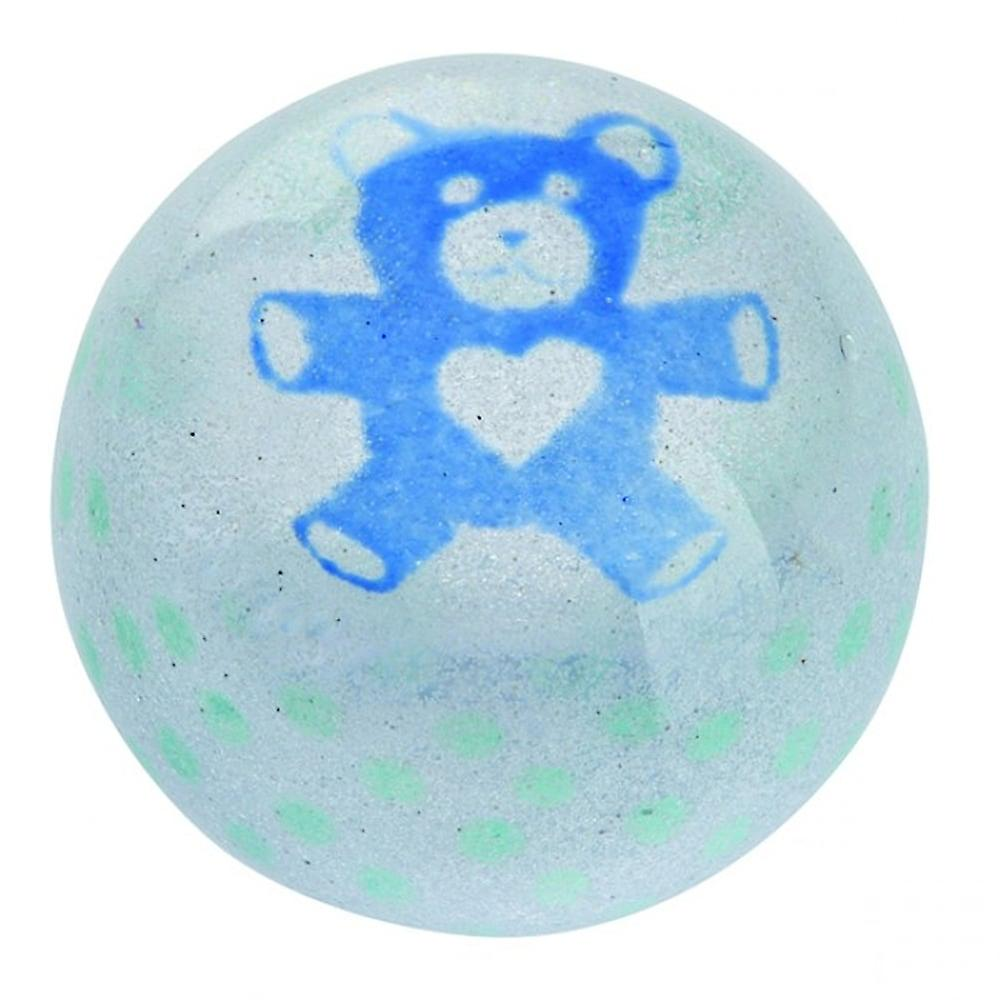 Caithness Glass Precious Moments Blue Teddy Paperweight