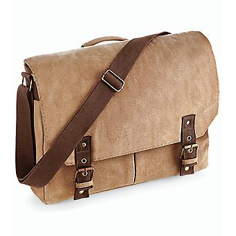 Vintage Canvas Satchel Messenger - sand