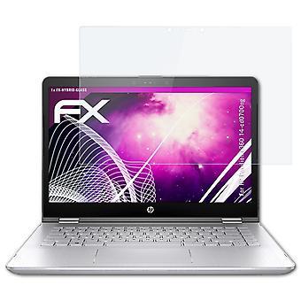 atFoliX Pellicola Vetro compatibile con HP Pavilion x360 14-cd0700ng 9H Armatura di protezione