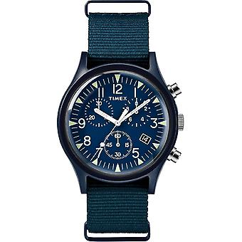 Timex MK1 Chrono Nylon Indiglo Mens Watch TW2R67600