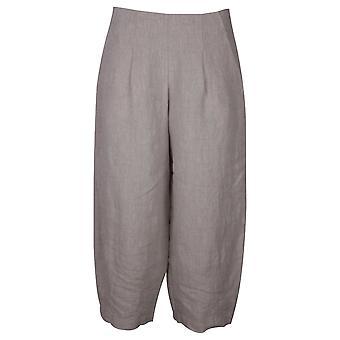 Crea Concept Beige Wide Leg Lightweight Linen Culottes