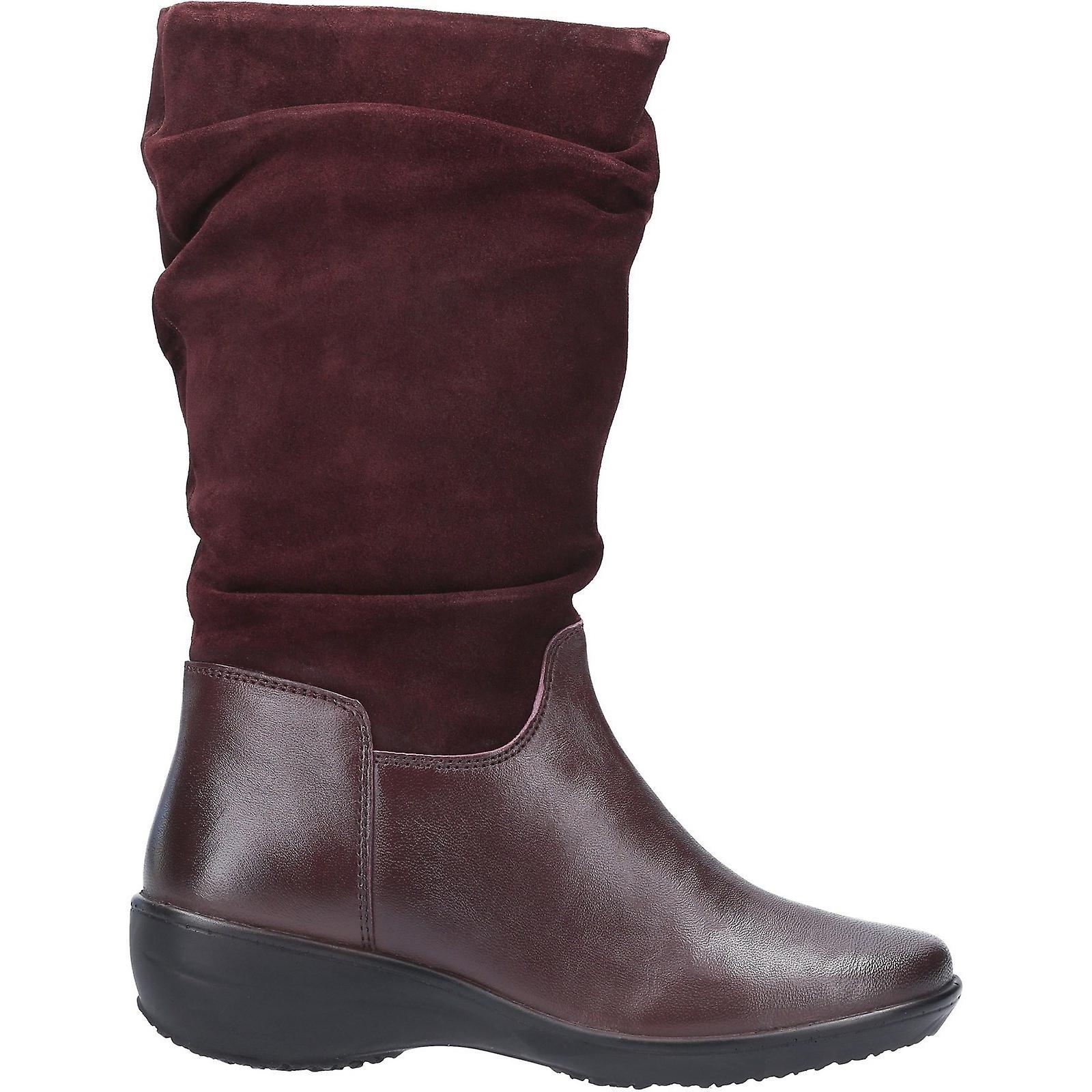 Fleet & Foster Womens/Ladies Margot Suede Leather Zip Mid Boot