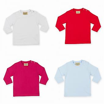 Larkwood Baby Unisex Plain Long Sleeve T-Shirt