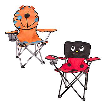 Benross Foldable Childrens Camping Chair Ladybird Or Tiger Assorted Product