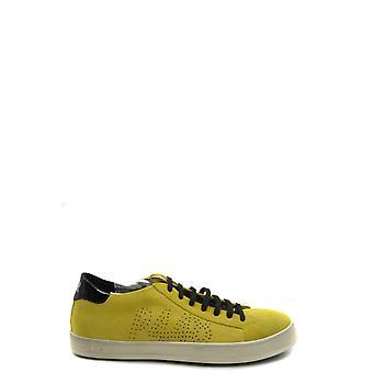 P448 Ezbc283014 Men's Yellow Leather Sneakers