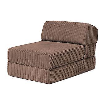 Troca ndo sofás | 'Bjorn' Jumbo Cord Fold Out Single Z Bed Mattress (Mocha)