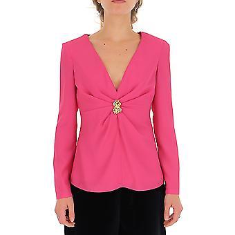 Moschino 02155434a0210 Women's Fuchsia Silk Top
