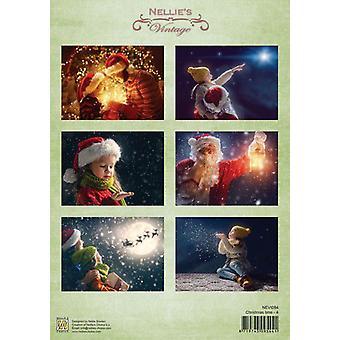 נלי ' s בחירה מגזרת נייר מדפים חג המולד time-4 A4-NEVI084