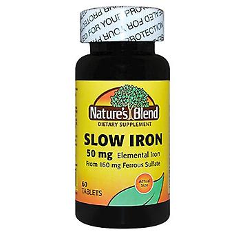 Nature's blend slow iron, 50 mg, tablets, 60 ea