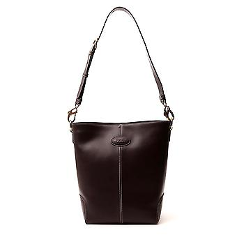 Tod's Xbwdbae0200xpas611 Women's Brown Leather Tote