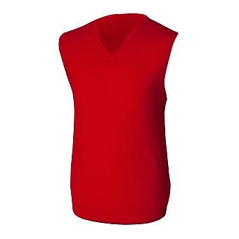 Henbury Herren ärmellos Lambswool Woolmark® v-Neck Pullover / Sweatshirt