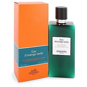 Eau D'orange Verte Body Lotion (Unisex) Por Hermes 6,5 oz Body Lotion