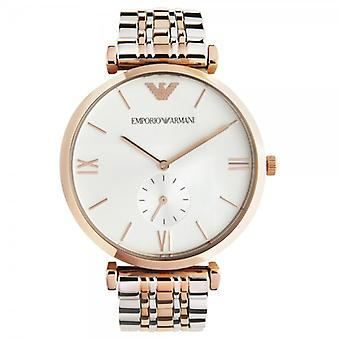 Armani Watches Ar1677 Mens Rose Gold & Stainless Steel Watch