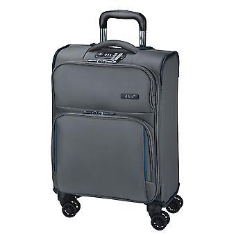 d&n Línea de viaje 7904 Equipaje de mano Carro S, 4 ruedas, 54 cm, 32 L, gris